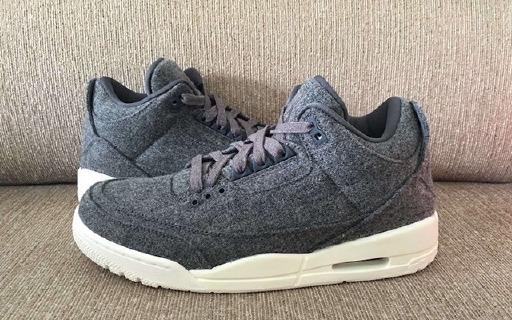 Air Jordan 3换新鞋面,羊毛材质暖暖过冬天