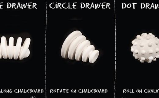 3D打印粉笔:精准绘制点、线、圆几何图案