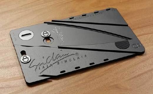 信用卡一样轻薄的折叠刀,让你告别瑞士军刀~