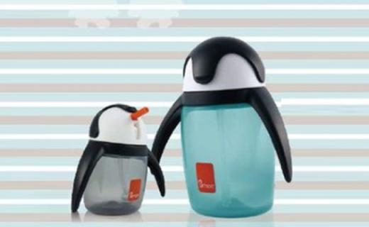Umee企鹅杯:安全无毒PP材质,呆萌造型宝宝爱喝水