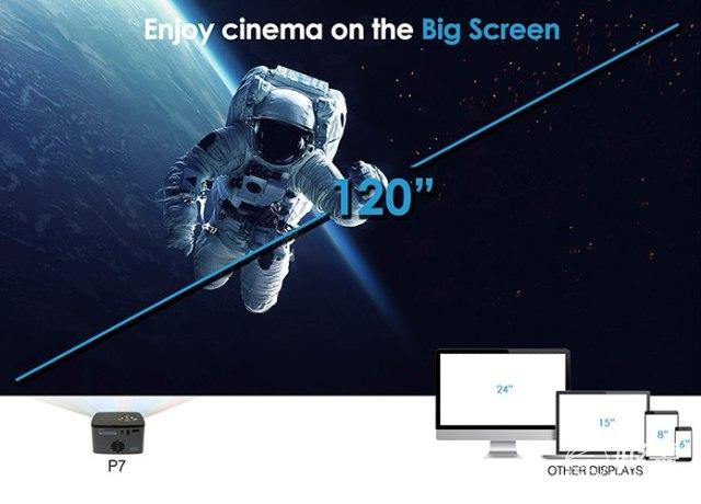 手掌大小全高清!超迷你1080p投影仪上架Amazon