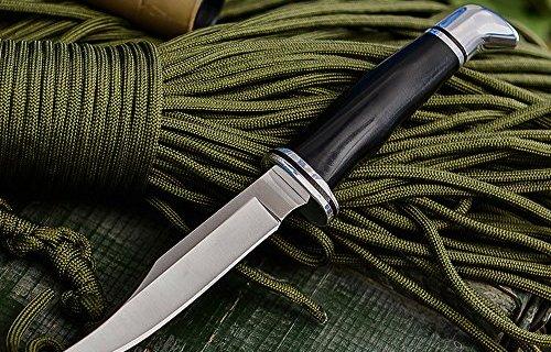 巴克小直刀:BOS热处理保证硬度,不锈钢刀刃檀木刀柄