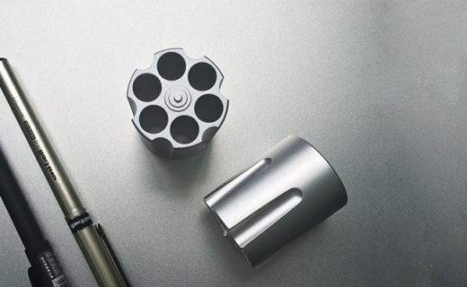 CROSSLINE金属弹夹笔筒:铝合金一体成型, 六孔收纳简约耐看