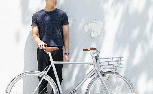 WKUP亮银自行车:铝合金车身轻便好看,专从国人习惯设计