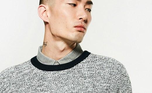 C&A撞色拼接针织毛衣:面料舒适柔软穿着有型,罗纹圆领经典百搭