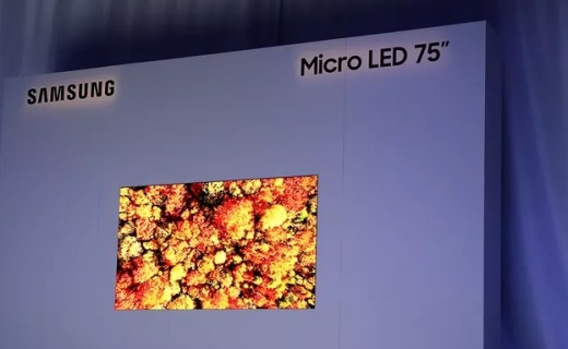 MicroLED电视来了!三星发布75吋模块化4K电视,超强画质不烧屏!