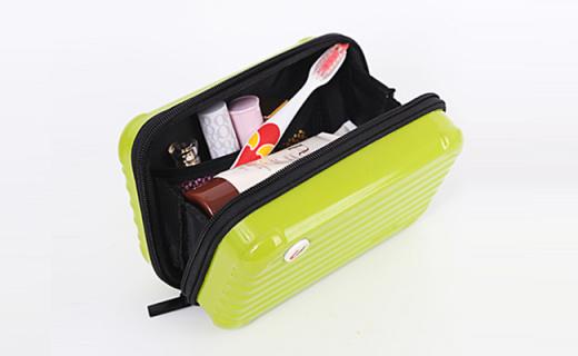 优集品收纳包:坚固耐用ABS+PC材质,可爱行李箱造型独具个性