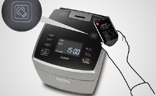 三菱IH智能电饭煲,煮饭更快还能用手机操控