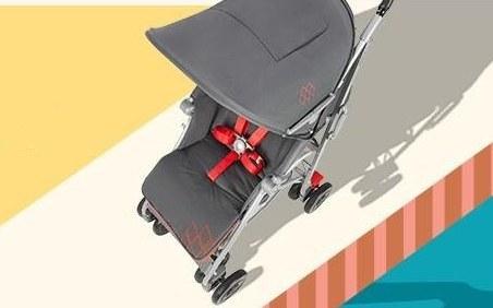 玛格罗兰婴儿车:透气座椅方便轻巧,避震功能平稳舒适