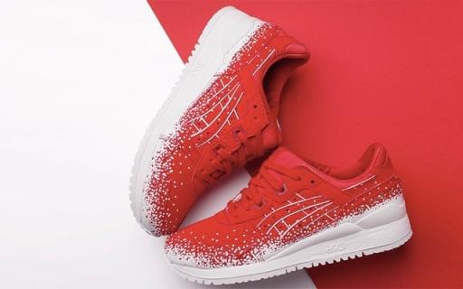 亚瑟士新推圣诞系列,点点雪花搭配红色更喜庆