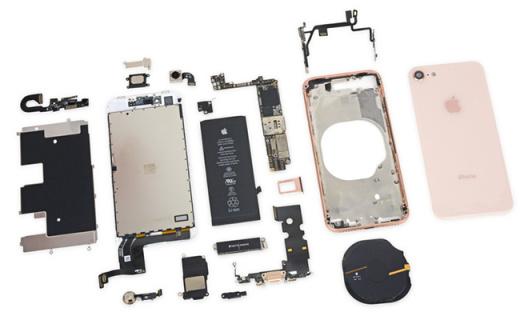 iPhone 8拆解!新增无线充电模块