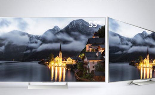 索尼智能电视:55吋4k屏幕配合智能系统,放在家的电影院