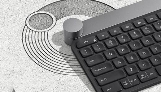 罗技Craft无线键盘:智能控制旋钮,蓝牙优联双模式连接