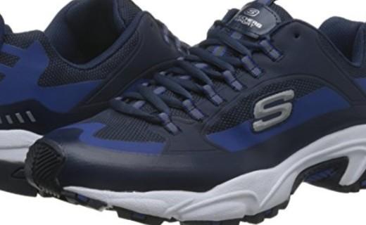 斯凯奇男款休闲鞋:热熔材质柔软舒适,EVA中底轻质缓震