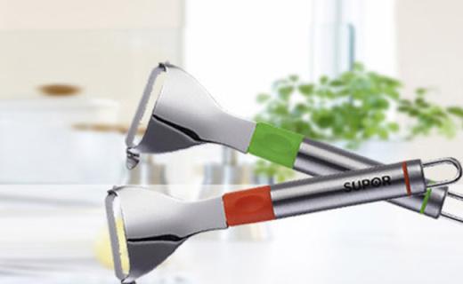苏泊尔水果刀:优质钢材不易生锈,锥形结构削皮更轻松