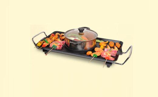 TaTanice电烤盘: 立体纹路轻松排油,煎炒炸烤涮煮样样精通