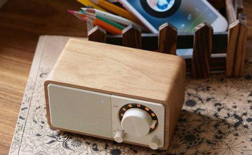 山进莫扎特原木音箱体验,樱桃原木外壳,复古造型经典范