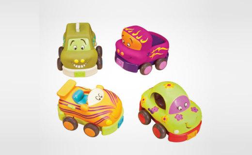 B.toys卡通车:柔软材质安全无毒,生动有趣孩子玩不够