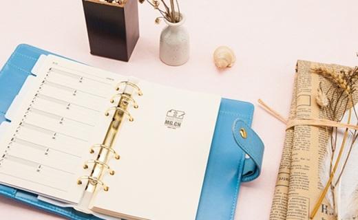 晨光48K笔记本:皮革封面耐磨防水,隔间设计还能放文件