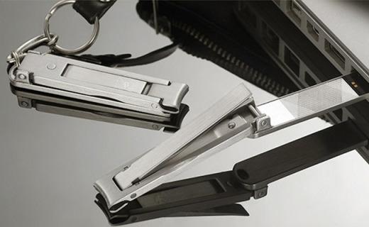 Stone指甲刀:原钢材质不生锈不变形,内置8G芯片U盘