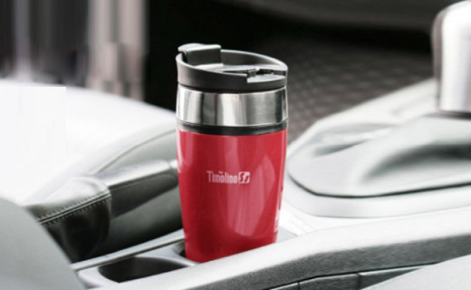帝诺车载保温杯:真空持续保温,推拉杯盖单手可饮水