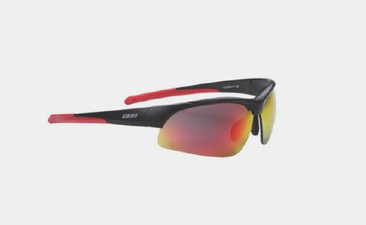 BBB Impress运动太阳镜:聚碳酸酯可替换镜面,100%防紫外线