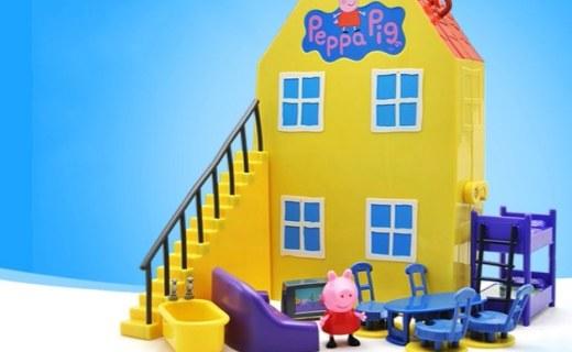 小猪佩奇手提盒玩具屋:高度还原动画场景,无毛刺不伤手