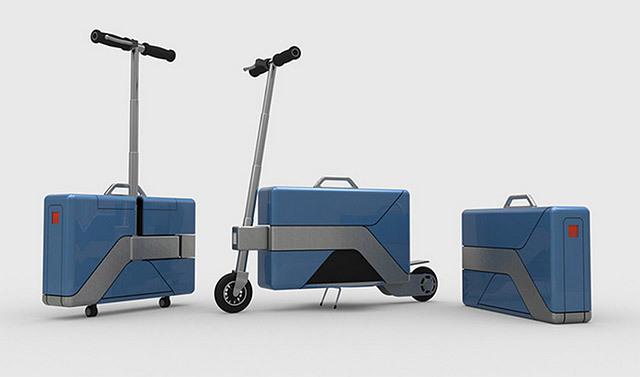上班族神器!奇葩公文包能当车骑 - Commute-Case
