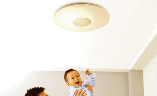 飞利浦恒宜吸顶灯:4档亮度色温调节,LED发光防眩目更护眼