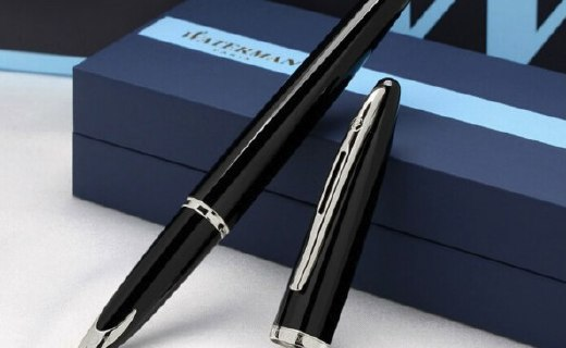 威迪文海韵黑夜钢笔:钛金笔身握持舒适,18K镀金笔头