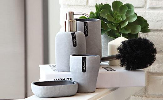 LAVIE BATH海礁系列卫浴四件套:天然石粉与树脂材质,装点你的浴室