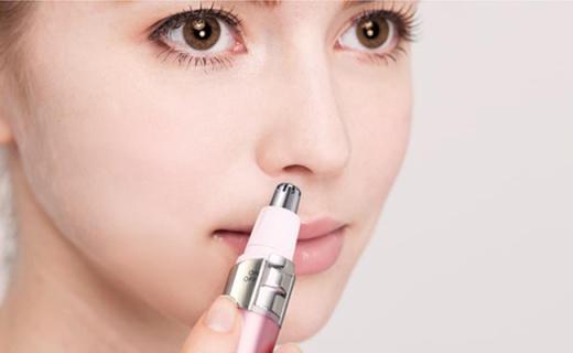 Tescom鼻毛修剪器:立体旋转刀头不伤鼻腔,带清洁刷可清洁鼻翼