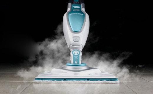 百得FSM1630蒸汽拖把:高温蒸汽洁净健康,多种模式保护地板