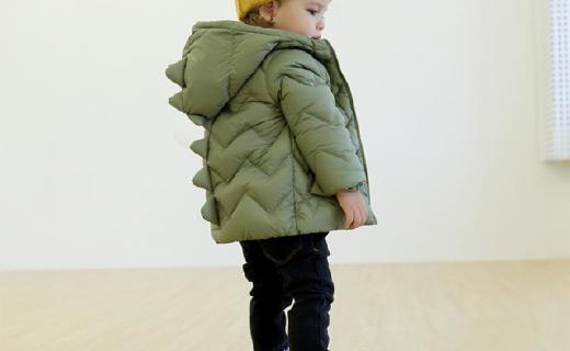 隶玛儿童羽绒服:90%白鸭绒高效保暖,人体工学设计防风