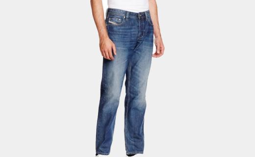 Diesel男士直筒牛仔裤:可修饰腿型,柔软棉质舒适百搭