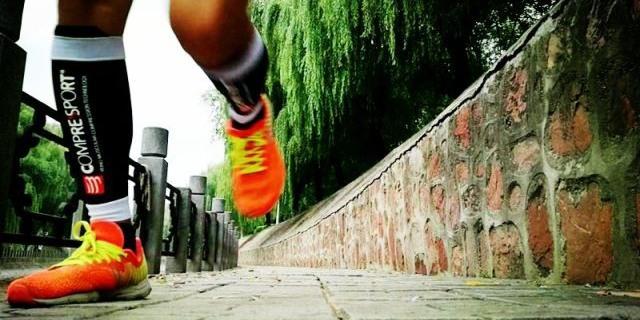 清凉纤维+护腿减震,为比赛而生 — Compressport压缩腿套体验