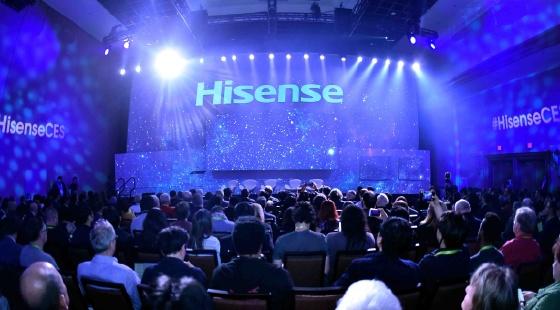 海信发布150英寸激光电视,双面屏手机亮相