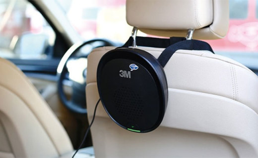 3M車載空氣凈化器:全新濾材高效過濾,結構簡單拆裝方便