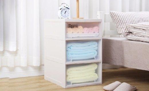 天马储物柜:大容量随心归置物品,抽屉卡扣防滑防脱落