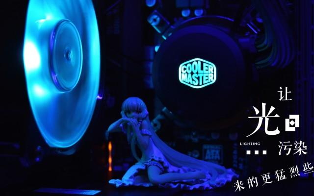 酷冷冰神B120RGB水冷散热器,光污染装机体验