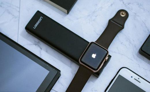 讓Apple Watch永不停電,綠聯iwatch磁力充電寶