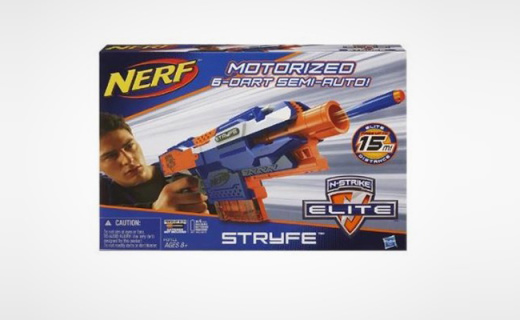 孩之宝热火软弹枪:橡胶弹头材质安全放心,举起武器化身孩子王