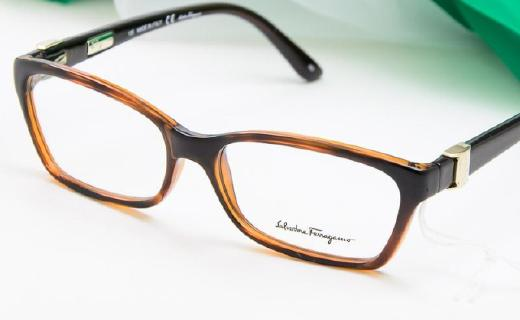 菲拉格慕男士眼镜架:金属塑料材质舒服,外形简单大方