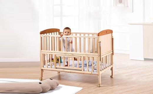 好孩子MC186-J311婴儿床:无漆无毒进口实木,可伸缩适合多年龄