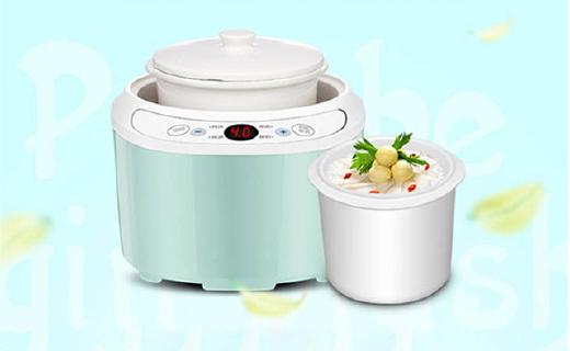 美的mini食代电炖盅:精致白瓷内胆,隔水炖更营养,节能省电