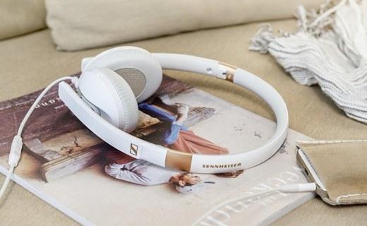 森海塞尔便携头戴耳机:立体声单元音质出色,智能遥控通话清晰