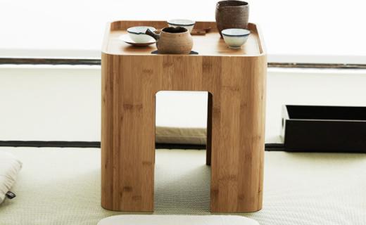 橙舍茶几凳:精选天然楠竹材质,淡雅色泽简约日系