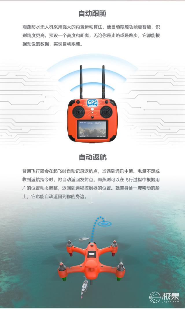 斯威普雨燕便携防水无人机