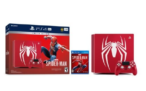 索尼放大招!推出《蜘蛛侠》限定PS4 Pro同捆绑套装