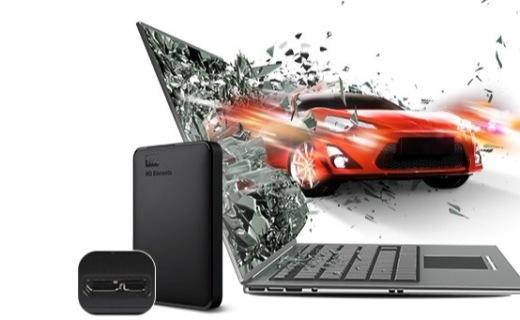 西部数据移动硬盘:1TB存储高速传输,轻量级设计小巧便携